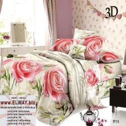Prześcieradło w jasnych kolorach w róże 160x200 bawełna