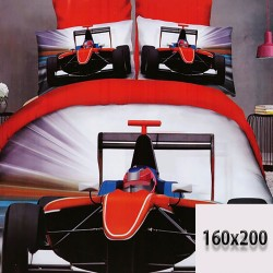 Formuła 1 wyścigówka prześcieradło 160/200 3d